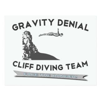 Carte Postale Équipe de plongée de falaise de démenti de gravité