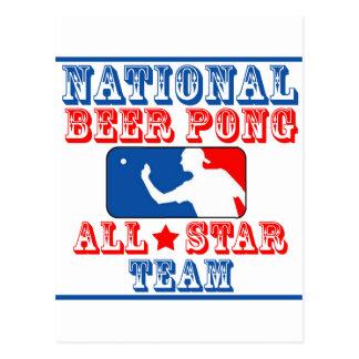 Carte Postale Équipe nationale de puanteur de bière