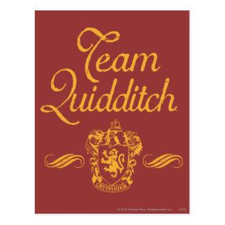 Carte Postale Équipe QUIDDITCH™ de Harry Potter  