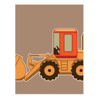 Carte Postale Équipement lourd de transport Payloader - Brown