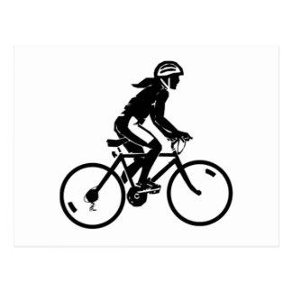 Carte Postale Équitation de bicyclette