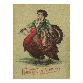 Carte Postale Équitation de la Turquie de thanksgiving