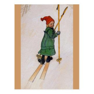 Carte Postale Esbjorn sur les skis 1905