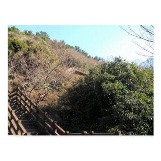 Carte Postale Escaliers sur une colline