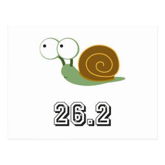 Carte Postale Escargot mignon 26,2 (marathon)