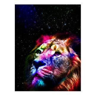 Carte Postale Espacez le lion de _caseSpace de lion - lion
