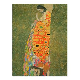 Carte Postale Espoir abandonné par Gustav Klimt