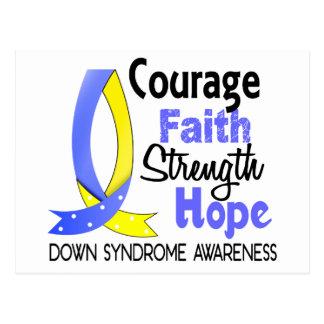 Carte Postale Espoir syndrome de Down de force de foi de courage