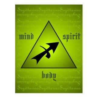 Carte Postale Esprit de corps d'esprit de triangle de Sagittaire