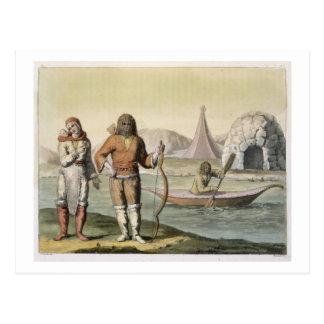 Carte Postale Esquimaux à la baie de Hudson, de 'Le Costume