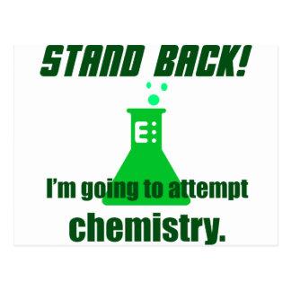 Carte Postale Essayer la chimie