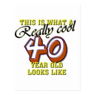 Carte Postale Est ce ce que vraiment un cool des regards 40 an