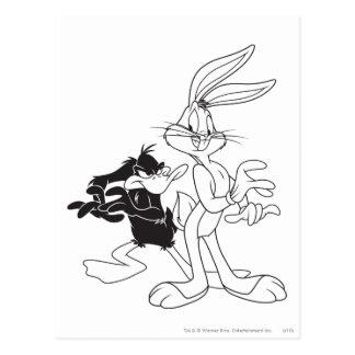 Carte Postale ™ et DAFFY DUCK™ de BUGS BUNNY