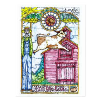 Carte Postale Et la vache