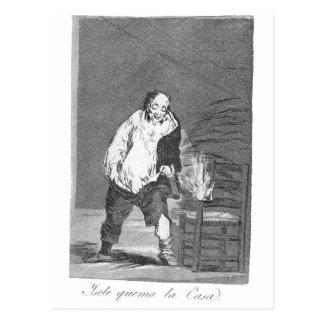 Carte Postale Et sa maison est sur le feu par Francisco Goya