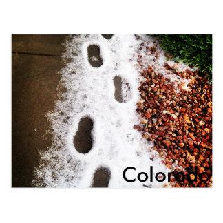 Carte Postale Étapes de grêle du Colorado