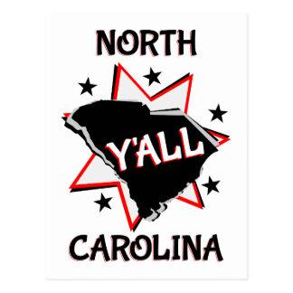 Carte Postale État de la Caroline du Nord vous