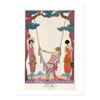 """Carte Postale Été, """"de tonne de fève de la gazette du"""", 1925"""