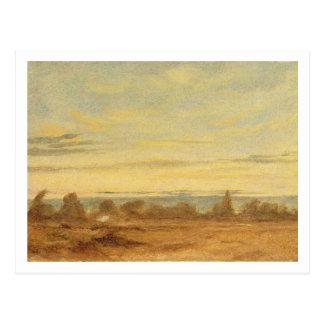 Carte Postale Été - paysage de soirée (huile sur la toile)