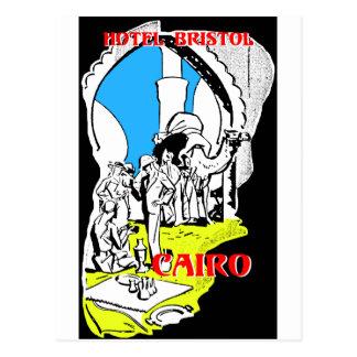 Carte Postale Étiquette de bagage du Caire