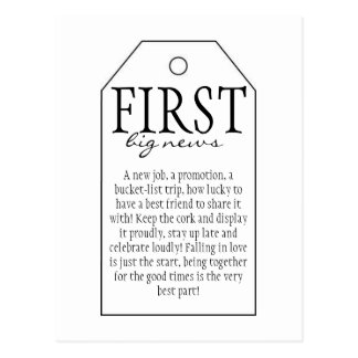 Carte Postale Étiquette de cadeau pour la bouteille de vin -