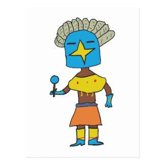 Carte Postale Étoile bleue Kachina