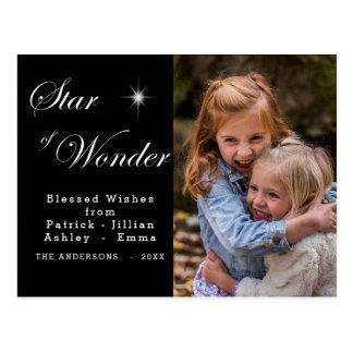 Carte Postale Étoile de Bethlehem de noir de merveille