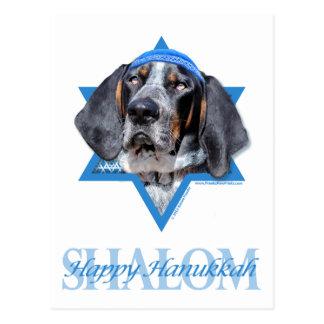 Carte Postale Étoile de David de Hanoukka - mandrin de Coonhound