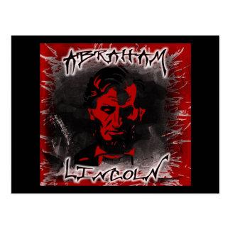 Carte Postale Étoile rouge sang d'horreur de Lincoln