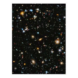 Carte Postale Étoiles dans l'espace - champ ultra profond de