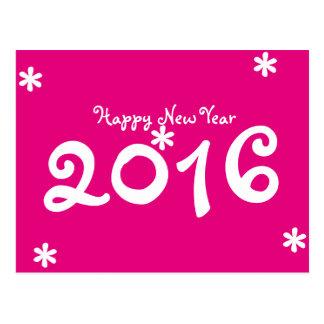 Carte Postale Étoiles de la bonne année 2016, des roses indien
