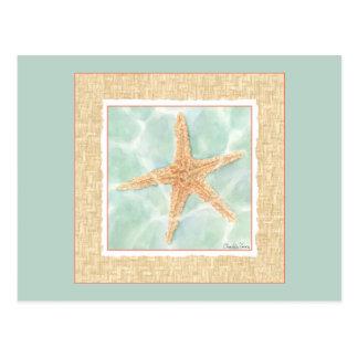 Carte Postale Étoiles de mer nautiques dans l'eau