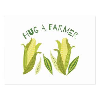 Carte Postale Étreignez un agriculteur