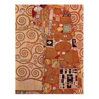 Carte Postale Étreinte par Gustav Klimt