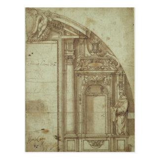 Carte Postale Étude architecturale