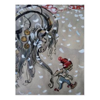 Carte Postale Étude pour Julbacken (chèvre de Noël) 1911