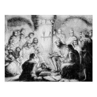 Carte Postale Étude secrète de la bible de Wycliffe