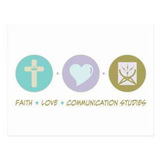 Carte Postale Études de communication d'amour de foi