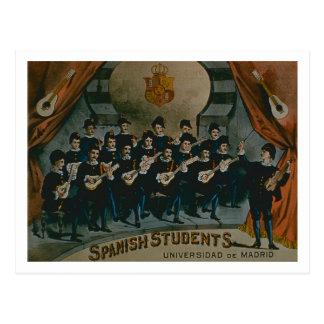 """Carte Postale """"Étudiants espagnols, université de Madrid"""""""