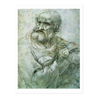 Carte Postale Étudiez pour un apôtre du dernier dîner, c.1495