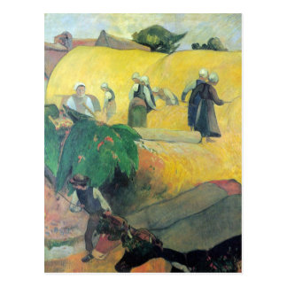 Carte Postale Eugène Henri Paul Gauguin - récolte en Bretagne