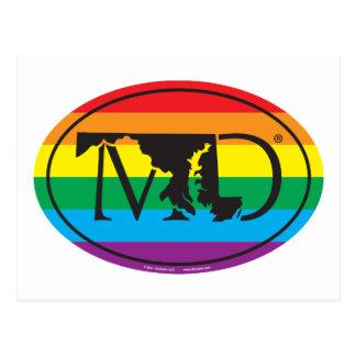 Carte Postale Euro de fierté d'état de LGBT : DM le Maryland