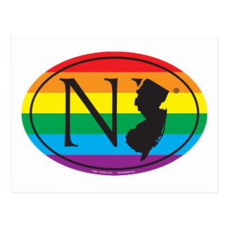 Carte Postale Euro de fierté d'état de LGBT : New Jersey de NJ