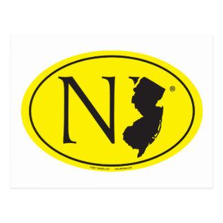 Carte Postale Euro de fierté d'état : New Jersey de NJ