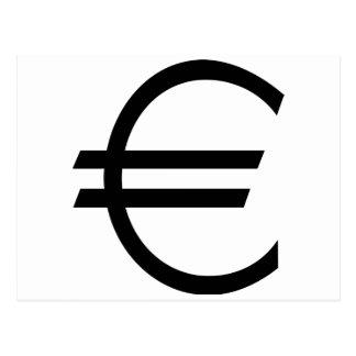 Carte Postale Euro signe