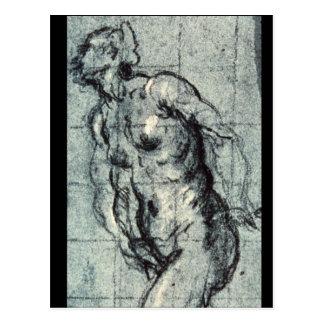 Carte Postale Eve', Jacopo Tintoretto_Studies des maîtres