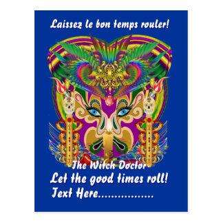 Carte Postale Événement de carnaval de mardi gras