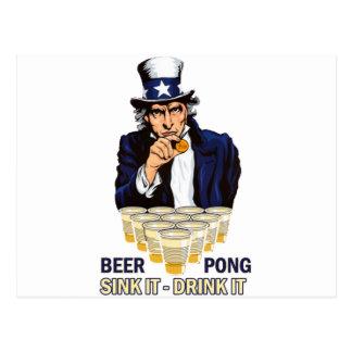Carte Postale Évier il boisson il Abe Lincoln