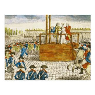 Carte Postale Exécution de Marie-Antoinette