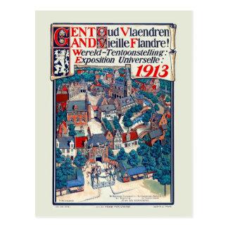 Carte Postale Expo 1913 du monde Gand vieille Flandre historique